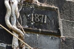 Inscription on the Stone Ruins of the Antoinette Sugar Factory showing Date of its Construction