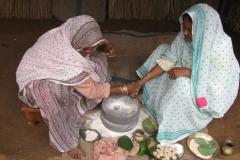 Grinding of grains demonstration